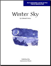 Free Piano Sheet Music in the New Age Style: Free Piano Sheet Music - Winter Sky