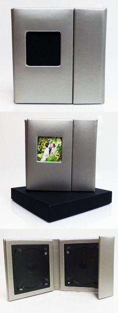 Wedding Story DVD/CD Case (Bulk of 10)Silver, Overlapping, Holds 2 Disc/1 photo
