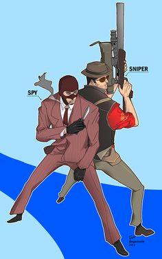 """egavinote: """"SPY x SNIPER! """""""