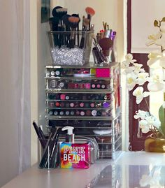 "I love this style of makeup drawers - especially if you have limited or no drawer space. Beauty blogger Annie Jaffrey writes, "" I love that they're clear so you can see exactly what you have."" Seeing all your makeup in one glance is super convenient."