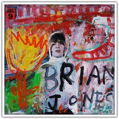Troy Henriksen - Brian Jones - Acrylique et mixte sur carton - 31 x 31 cm - 2015 - Galerie W - Galerie d'Art contemporain à Paris #galeriew #gallery #w #gallery w #troy-henriksen @galeriew