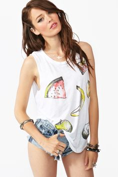 Juicy Fruit Muscle Tee - such an ugly, friendly shirt
