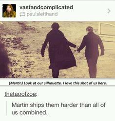Martin ships Johnlock so hard...