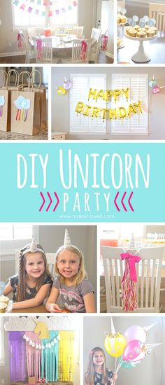DIY Unicorn Party (...and Chloe turned 6!!) | via www.makeit-loveit.com