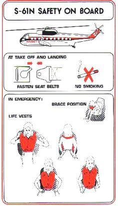 Vintage Helicopters Ansett S 61 N Helicopter Safety Card Vintage Trends, Vintage Ideas, Vintage Cars, Australian Airlines, Australian Vintage, Safety Instructions, Air Festival, Air New Zealand, Vintage Restaurant