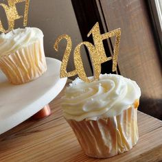 2017 Graduation Cupcake Toppers.  Ships in 1-3 Business Days.  Graduation Party Decor 12CT.