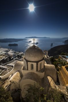 Fira, Santorini, Greece - so beautiful - wonder if this is the part of Greece st. Nick was from...