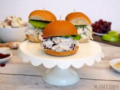 Skinny Chicken Salad Sliders - The Cookie Rookie - The Cookie Rookie