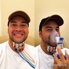 Cuidando do instrumento que Deus me deu Minha Voz - hoje fizemos um tratamento completo - Eletroterapia e estimulação funcional - e Nebulização  com minha Fono Dr. Cris