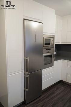 Kitchen Room Design, Kitchen Cabinet Design, Modern Kitchen Design, Interior Design Kitchen, Kitchen Decor, Kitchen Corner, Modern Kitchen Renovation, Kitchen Remodel, Small Kitchen Plans