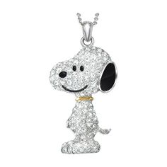 Peanuts Collectibles   The Snoopy Swarovski Crystal Pendant Necklace - The Danbury Mint
