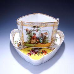 マイセン Meissen の1800年代後半(19世紀後半)の真正・本物のアンティーク ディナー プレート, キャビネット プレートの販売・ご案内です
