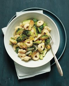 Tortellini with Lemon and Brussels Sprouts Recipe