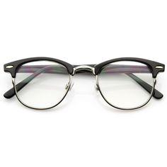 Vintage Optical RX Clear Lens Clubmaster Wayfarer Glasses 2946 49mm | zeroUV