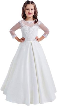 Looking for Lace Long Sleeves Hollow Back First Communion Dresses Year Old ? Check out our picks for the Lace Long Sleeves Hollow Back First Communion Dresses Year Old from the popular stores - all in one. Girls Casual Dresses, Wedding Dresses For Girls, Wedding Party Dresses, Dress Party, Prom Dress, Girls First Communion Dresses, Holy Communion Dresses, Half Sleeve Girl, Half Sleeves