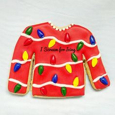 Christmas sweater cookie