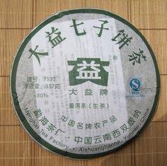 "Menghai Dayi Brand 2008 ""7532"" Raw Pu-erh Tea - 357g Cake http://www.jas-etea.com/menghai-dayi-brand-2008-7532-raw-pu-erh-tea-357g-cake/"