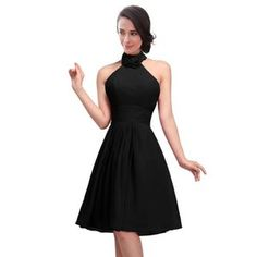 【送料無料】FashionファッションPlazaHalterShortBridesmaidFormalPartyDressD0117(US4,Blackブラック黒)レディース\ドレス\ウェディングドレス【正規品】