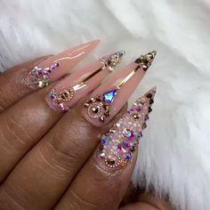 👌😍 The top nail art products to have fairy nails 🧚💅 - - Swarovski Nails, Rhinestone Nails, Bling Nails, Swag Nails, Grunge Nails, Fabulous Nails, Gorgeous Nails, Glow Nails, 3d Nails