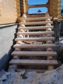 лестницы из оцилиндрованного - Поиск в Google