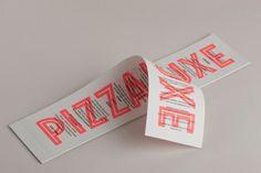 Pizza Luxe branding