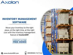 Axolon ERP offers superior Stock Inventory Control, Inventory Forecasting, and Optimization Solutions to improve profits. Grow your business with AxolonERP Software. For more details, you can visit our website www.AxolonERP.com or call us at our toll-free number ☎ 800296566. #inventorymanagement #inventorymanagementSoftware #inventorymanagementSolution #inventorymanagementERP #inventorymanagementServices #Axolon #AxolonERP Inventory Management Software, Business Management, Project Management, Us Real Estate, Accounting Software, Day Work, Business Goals, Growing Your Business, Muscat