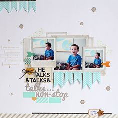 scrapbook layout - Kelly Noel