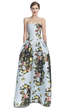 Garden gala or garden wedding? Love this Carolina Herrera Dress!