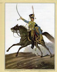 "Russia Officer ""Elisavetgrad"" Hussar Regt. 1815 Klein"