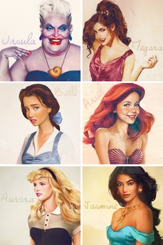 Realistic disney princesses... Ursula is a princess?! XD