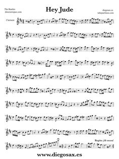Hey Jude by The Beatles sheet music for Violin Hey Jude for Violin Rock-Pop Music Score Trombone Sheet Music, Alto Sax Sheet Music, Viola Sheet Music, Saxophone Music, Violin Sheet, Piano Sheet Music, Song Sheet, Partitions Trombone, Music Score