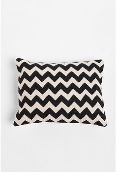 Urban black and white zigzag pillow to help round out the living room pillows?