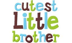 Items similar to Little Brother Applique Machine Embroidery Design and on Etsy Machine Embroidery Designs, 4x4, Brother, Appliques, Handmade Gifts, Cute, Fictional Characters, Hoop, Etsy