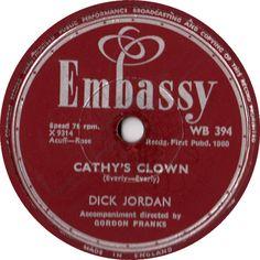 Cathy's Clown - Dick Jordan (WB394) Apr '60