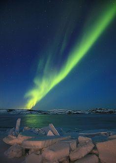Kleifarvatn, Iceland - aurora borealis by olgeir via flickr
