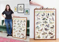 """""""This poster was in my boyfriend's bedroom when he was a kid—he loved (loves?) dinosaurs."""""""