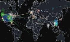 Δείτε σε πραγματικό χρόνο τις διαδικτυακές επιθέσεις που γίνονται σε όλο τον κόσμο  - http://www.secnews.gr/archives/80570 -  Η άνοδος του διαδικτύου έχει οδηγήσει σε ένα νέο πεδίο μάχης. Είτε σε μια χώρα ή σε όλο τον κόσμο, οι hackers εργάζονται για να παραβιάσουν τις ψηφιακές άμυνες τ
