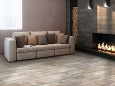 1bb27914d87 Origins Sandal Wood Grey Matt Porcelain Floor Tile - 280 x 710mm Grey  Flooring