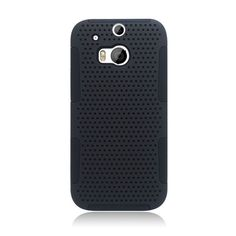 Insten Hard PC/ Silicone Dual Layer Hybrid Rubberized Matte Case Cover For HTC One M8 #2217733