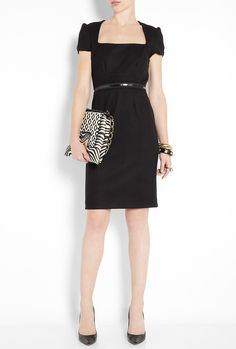 L'AGENCE  SQUARE NECK DRESS