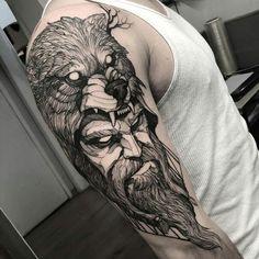 ideas tattoo wrist geometric tatuajes for 2019 Viking Tattoo Sleeve, Norse Tattoo, Arm Tattoo, Sleeve Tattoos, Thigh Tattoos, Wolf Tattoos, Bear Tattoos, Tatoos, Tattoo Design Drawings