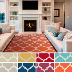Available in a variety of colors, this bold rug features a geometric design and a contemporary style. This rug is hand-woven with 100 percent cotton.