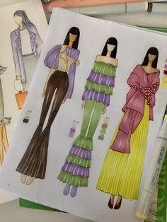Fashion Illustration Poses, Fashion Illustration Tutorial, Fashion Drawing Tutorial, Fashion Design Books, Fashion Design Sketchbook, Fashion Design Drawings, Dress Design Drawing, Dress Design Sketches, Fashion Model Sketch