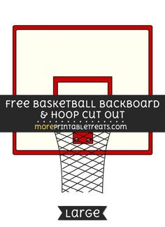 Free Basketball Backboard And Hoop Cut Out - Large size printable Math Classroom Decorations, Sports Theme Classroom, Space Jam, Free Basketball, Basketball Stuff, Sports Mom, School Sports, Music Bulletin Boards, Basketball Birthday Parties