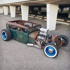 rat rod roadster #pickup Custom Rat Rods, Custom Cars, Weird Cars, Cool Cars, Crazy Cars, Best Naruto Wallpapers, Rat Rod Pickup, Rat Rod Cars, Lifted Ford Trucks