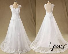 New Arrival A Line Custom Made Spaghetti Strap See Through Back Beach White Lace Wedding dress 2014 Wedding Gown Bridal Dress by VnaixBridal on Etsy https://www.etsy.com/listing/214910413/new-arrival-a-line-custom-made-spaghetti