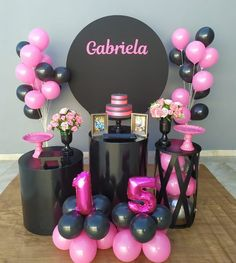 Chanel Birthday Party, Panda Birthday Party, Birthday Parties, Happy Birthday, Birthday Ideas For Her, Birthday Cakes For Women, Simple Birthday Decorations, Sweet Sixteen Parties, Birthday Balloons