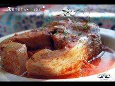 CRAP CU SOS DE ROSII LA CUPTOR - YouTube Seafood, French Toast, Pork, Turkey, Meat, Breakfast, Camera Phone, Youtube, Kochen