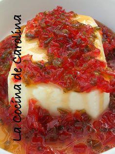 La Cuisine de Carolina: Queso crema con almibar de pimenton - Philadelphia avec poivron confit