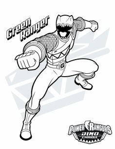 Power Rangers Dino Charge Coloring Page Pinteres